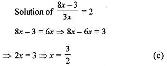 ML Aggarwal Class 8 Solutions for ICSE Maths Chapter 12 Linear Equations and Inequalities in one Variable Objective Type Questions Q8.3