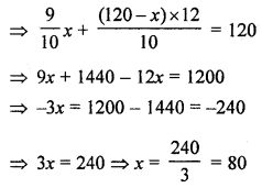 ML Aggarwal Class 8 Solutions for ICSE Maths Chapter 12 Linear Equations and Inequalities in one Variable Objective Type Questions hots Q2.2