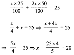 ML Aggarwal Class 8 Solutions for ICSE Maths Chapter 12 Linear Equations and Inequalities in one Variable Objective Type Questions value Q1.1