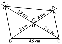 ML Aggarwal Class 8 Solutions for ICSE Maths Chapter 14 Constructions of Quadrilaterals Ex 14.2 Q3.1