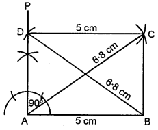 ML Aggarwal Class 8 Solutions for ICSE Maths Chapter 14 Constructions of Quadrilaterals Ex 14.2 Q6.1