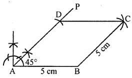 ML Aggarwal Class 8 Solutions for ICSE Maths Chapter 14 Constructions of Quadrilaterals Ex 14.2 Q9.1