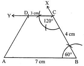 ML Aggarwal Class 8 Solutions for ICSE Maths Chapter 14 Constructions of Quadrilaterals Objective Type Questions hots Q1.1