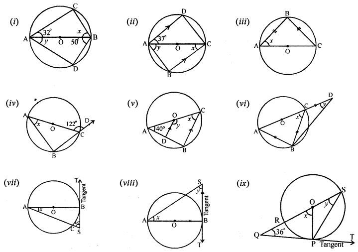 ML Aggarwal Class 8 Solutions for ICSE Maths Chapter 15 Circle Q5.1
