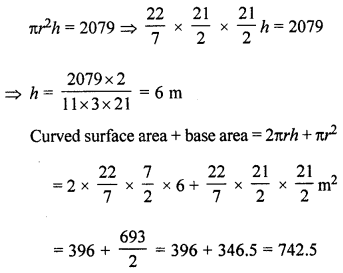 ML Aggarwal Class 8 Solutions for ICSE Maths Chapter 18 Mensuration Check Your Progress Q18.1