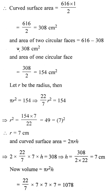 ML Aggarwal Class 8 Solutions for ICSE Maths Chapter 18 Mensuration Ex 18.4 Q17.1