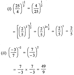ML Aggarwal Class 8 Solutions for ICSE Maths Chapter 2 Exponents and Powers Check Your Progress Q1.2