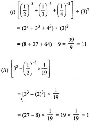 ML Aggarwal Class 8 Solutions for ICSE Maths Chapter 2 Exponents and Powers Check Your Progress Q2.3