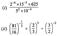 ML Aggarwal Class 8 Solutions for ICSE Maths Chapter 2 Exponents and Powers Check Your Progress Q4.1