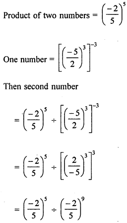 ML Aggarwal Class 8 Solutions for ICSE Maths Chapter 2 Exponents and Powers Check Your Progress Q9.1