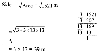 ML Aggarwal Class 8 Solutions for ICSE Maths Chapter 3 Squares and Square Roots Ex 3.3 Q13.1