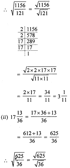 ML Aggarwal Class 8 Solutions for ICSE Maths Chapter 3 Squares and Square Roots Ex 3.3 Q3.3