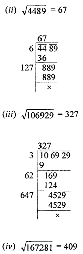 ML Aggarwal Class 8 Solutions for ICSE Maths Chapter 3 Squares and Square Roots Ex 3.4 Q1.2