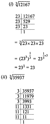 ML Aggarwal Class 8 Solutions for ICSE Maths Chapter 4 Cubes and Cube Roots Ex 4.2 Q1.1