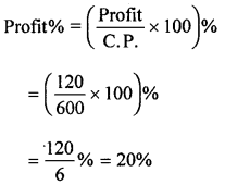 ML Aggarwal Class 8 Solutions for ICSE Maths Chapter 7 Percentage Check Your Progress Q11.1