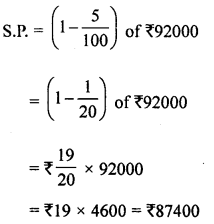ML Aggarwal Class 8 Solutions for ICSE Maths Chapter 7 Percentage Check Your Progress Q13.2