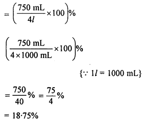 ML Aggarwal Class 8 Solutions for ICSE Maths Chapter 7 Percentage Check Your Progress Q2.1