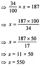 ML Aggarwal Class 8 Solutions for ICSE Maths Chapter 7 Percentage Check Your Progress Q4.1