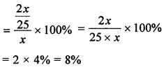 ML Aggarwal Class 8 Solutions for ICSE Maths Chapter 7 Percentage Check Your Progress Q8.4