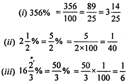 ML Aggarwal Class 8 Solutions for ICSE Maths Chapter 7 Percentage Ex 7.1 Q1.1