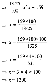 ML Aggarwal Class 8 Solutions for ICSE Maths Chapter 7 Percentage Ex 7.1 Q10.2