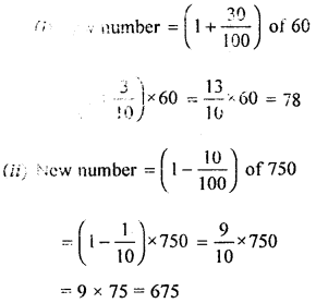 ML Aggarwal Class 8 Solutions for ICSE Maths Chapter 7 Percentage Ex 7.1 Q11.1