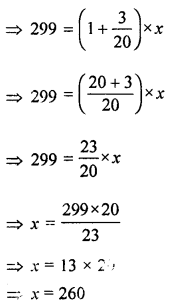 ML Aggarwal Class 8 Solutions for ICSE Maths Chapter 7 Percentage Ex 7.1 Q12.1