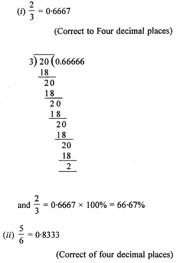 ML Aggarwal Class 8 Solutions for ICSE Maths Chapter 7 Percentage Ex 7.1 Q4.2