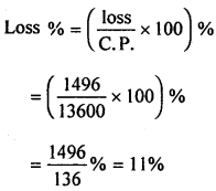 ML Aggarwal Class 8 Solutions for ICSE Maths Chapter 7 Percentage Ex 7.2 Q1.2