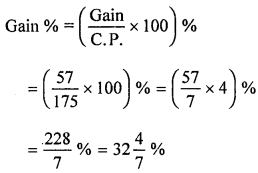 ML Aggarwal Class 8 Solutions for ICSE Maths Chapter 7 Percentage Ex 7.2 Q8.1