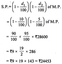 ML Aggarwal Class 8 Solutions for ICSE Maths Chapter 7 Percentage Ex 7.3 Q11.1