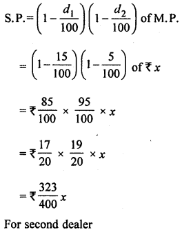 ML Aggarwal Class 8 Solutions for ICSE Maths Chapter 7 Percentage Ex 7.3 Q12.1