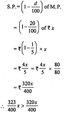 ML Aggarwal Class 8 Solutions for ICSE Maths Chapter 7 Percentage Ex 7.3 Q12.2