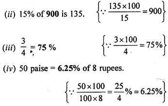ML Aggarwal Class 8 Solutions for ICSE Maths Chapter 7 Percentage Objective Type Questions Q1.1