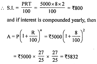 ML Aggarwal Class 8 Solutions for ICSE Maths Chapter 8 Simple and Compound Interest Check Your Progress Q3.1
