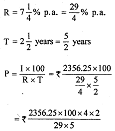ML Aggarwal Class 8 Solutions for ICSE Maths Chapter 8 Simple and Compound Interest Ex 8.1 Q5.1