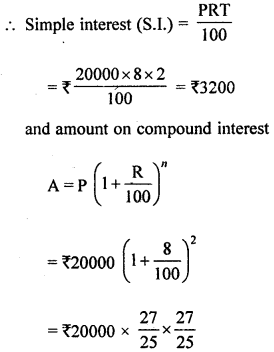 ML Aggarwal Class 8 Solutions for ICSE Maths Chapter 8 Simple and Compound Interest Ex 8.2 Q7.1