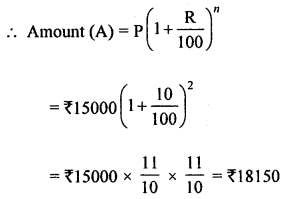 ML Aggarwal Class 8 Solutions for ICSE Maths Chapter 8 Simple and Compound Interest Ex 8.3 Q1.1