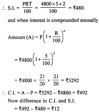 ML Aggarwal Class 8 Solutions for ICSE Maths Chapter 8 Simple and Compound Interest Ex 8.3 Q2.1