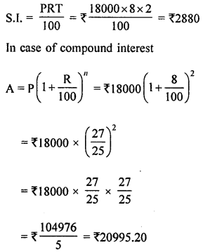 ML Aggarwal Class 8 Solutions for ICSE Maths Chapter 8 Simple and Compound Interest Ex 8.3 Q5.1