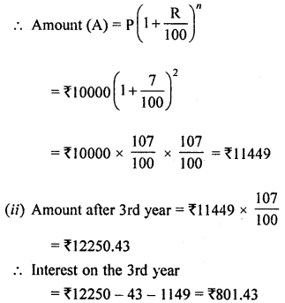 ML Aggarwal Class 8 Solutions for ICSE Maths Chapter 8 Simple and Compound Interest Ex 8.3 Q7.1