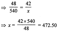 ML Aggarwal Class 8 Solutions for ICSE Maths Chapter 9 Direct and Inverse Variation Check Your Progress Q4.1