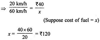 ML Aggarwal Class 8 Solutions for ICSE Maths Chapter 9 Direct and Inverse Variation Objective Type Questions value Q1.1