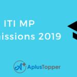 ITI MP Admission 2019-20