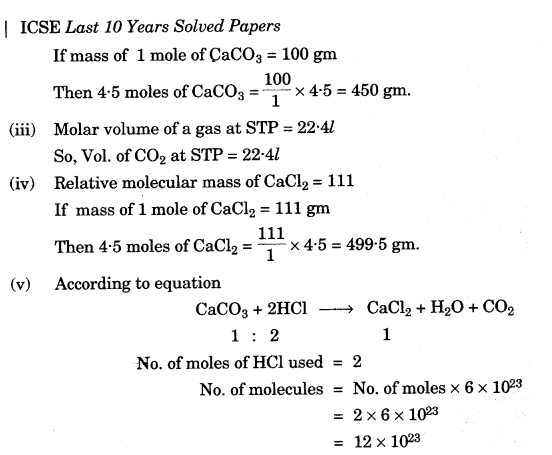 ICSE Chemistry Question Paper 2010 Solved for Class 10 - 11