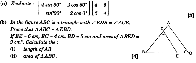 ICSE Maths Question Paper 2010 Solved for Class 10 37