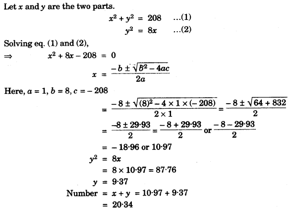 ICSE Maths Question Paper 2010 Solved for Class 10 42