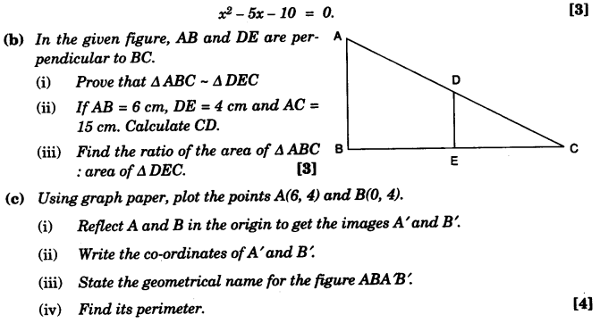ICSE Maths Question Paper 2013 Solved for Class 10 13