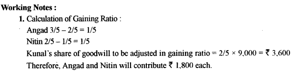 ISC Accounts Question Paper 2014 Solved for Class 12 13