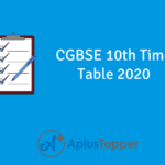 CGBSE 10th Time Table